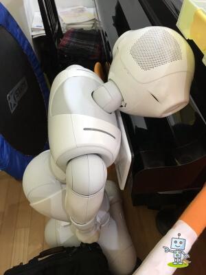 自考力キッズにいたロボットpepperペッパー君